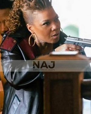 Queen Latifah The Equalizer Robyn McCall Black Leather Coat