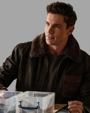 Roswell, New Mexico S03 Tanner Novlan Shearling Black Jacket