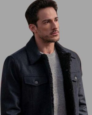 Roswell, New Mexico S03 Michael Trevino Black Shearling Jacket