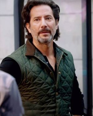 Henry Ian Cusick Macgyver Russ Taylor Green Quilted Vest