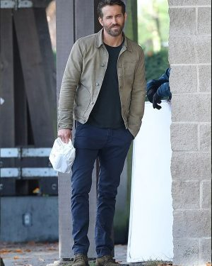The Adam Project Ryan Reynolds Grey Cotton Jacket