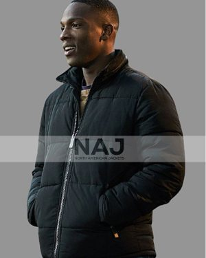 Tosin Cole TV Series Doctor Who Ryan Sinclair Black Puffer Jacket