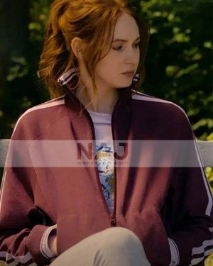 Karen Gillan Gunpowder Milkshake Sam Maroon Track Jacket