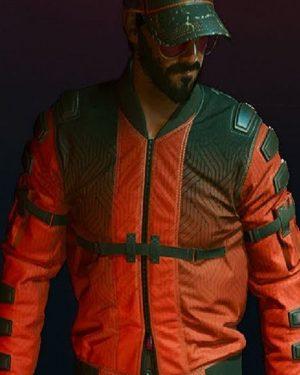 Cyberpunk 2077 Samurai Leather Bomber Jacket