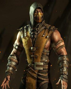 Mortal Kombat Scorpion Black Hooded Leather Jacket