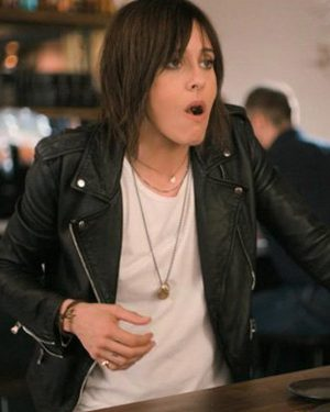 Katherine Moennig The L Word Generation Q Black Leather Jacket