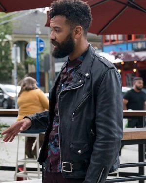TV Series Shrill Season 03 Amadi Black Biker Leather Jacket