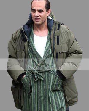 Skinny Razor The Irishman 2019 Nylon Hooded Shearling Coat
