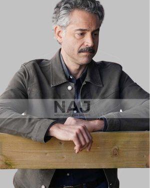 Omar Metwally TV Series Big Sky Gray Cotton Jacket