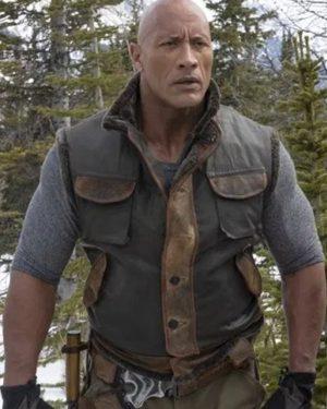 Dwayne Johnson Jumanji 3 Leather Vest