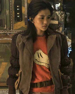 Kim Tae-ri Captain Jang Space Sweepers Brown Jacket