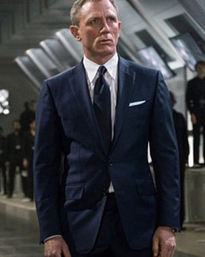 Daniel Craig Spectre James Bond Sharkskin Suit