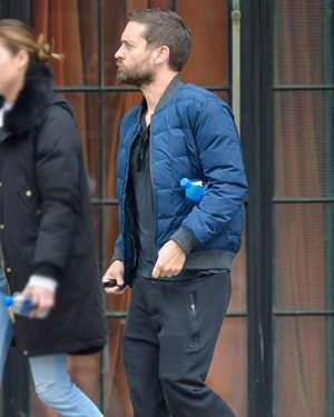 Tobey Maguire Spider-Man No Way Home Blue Quilted Jacket