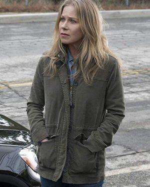 Christina Applegate Dead to Me Green Jacket