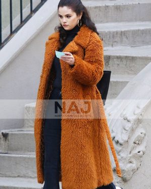 Selena Gomez Only Murders in The Building S01 Fur Trench Coat