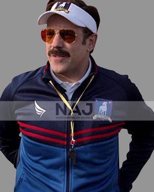 Ted Lasso Jason Sudeikis Blue Polyester Track Jacket