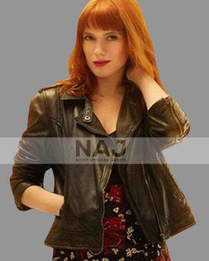 Diana Gómez Valeria Season 02 Biker Black Leather Jacket