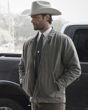 Walker 2021 Jared Padalecki Gray Cotton Jacket