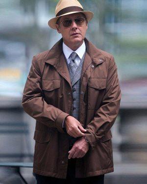 James Spader The Blacklist Raymond Reddington Brown Jacket