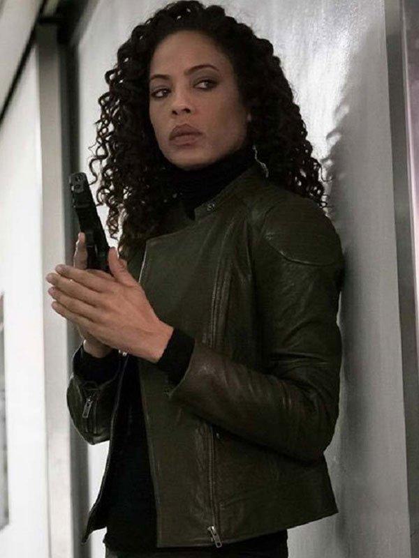 Tawny Cypress The Blacklist Redemption Leather Jacket