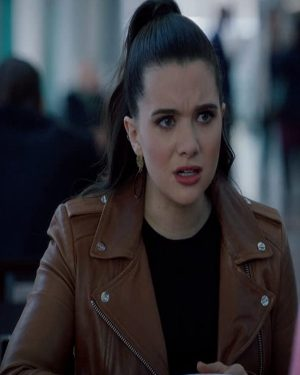 Jane Sloan The Bold Type Brown Leather Jacket