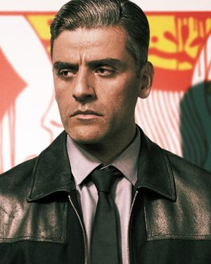 William Tell The Card Counter 2021 Oscar Isaac Slim Fit Black Leather Jacket