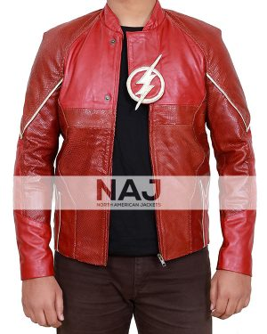 The Flash Grant Gustin Red Leather Jacket