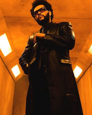 Take My Breath The Weeknd Black Leather Trench Coat