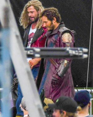 Peter Quil Thor love and Thunder Chris Pratt Maroon Leather Trench Coat