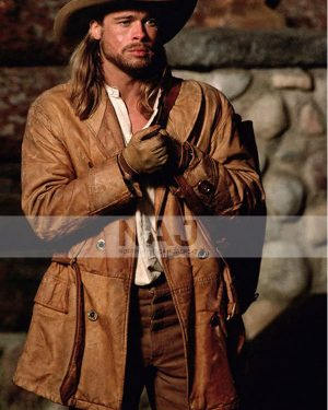 Brad Pitt Legends of The Fall Tristan Ludlow Brown Leather Jacket