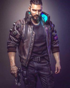 Cyberpunk 2077 Samurai Bomber Leather Jacket