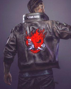 Video Game Cyberpunk 2077 Samurai Leather Jacket (1)