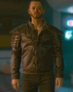 Cyberpunk 2077 Wolf School Brown Leather Jacket