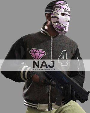 Panther GTA 6 Gray Varsity Jacket