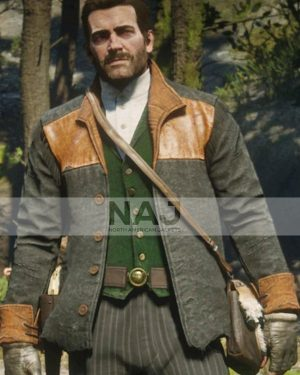 Red Dead Redemption 2 Video Game Gray and Brown Wool Jacket