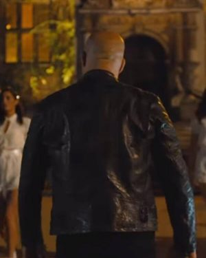 Dominic Toretto Fast And Furious Black Leather Jacket
