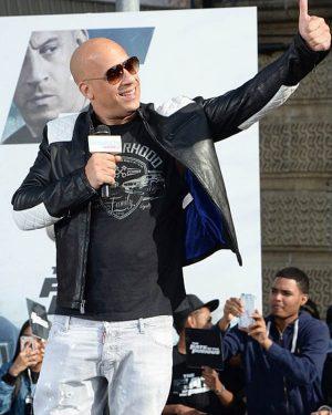 F9 the Fast Saga Vin Diesel Black Leather Jacket