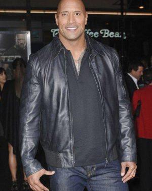 The Rock Dwayne Johnson Leather Jacket