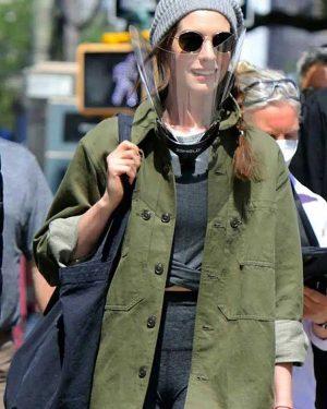 Anne Hathaway WeCrashed Rebekah Neumann Cotton Green Jacket