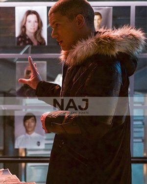 Wentworth Miller Crisis on Earth X Black and Blue Shearling Jacket