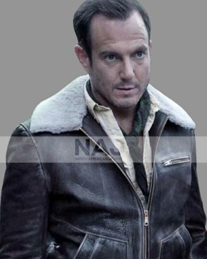 Father A Series of Unfortunate Events Will Arnett Brown Leather Jacket