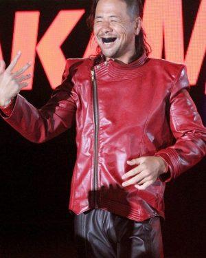 Wrestler-Shinsuke-Nakamura-Red-Leather-Jacket