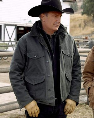 Kevin Costner Yellowstone Green Jacket