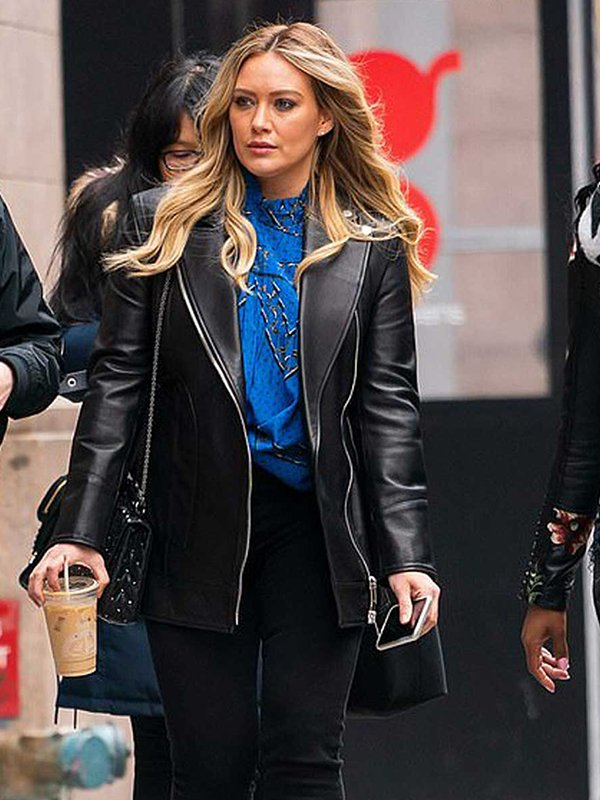 Younger Hilary Duff Black Leather Jacket