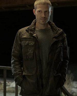 Zach Gilford TV Series Midnight Mass 2021 Riley Flynn Black Cotton Jacket