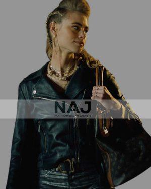 Lucy Fry Night Teeth 2021 Black Biker Leather Jacket