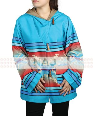 beth dutton blue hooded coat