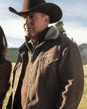 Kevin Costner Yellowstone corduroy Brown Jacket